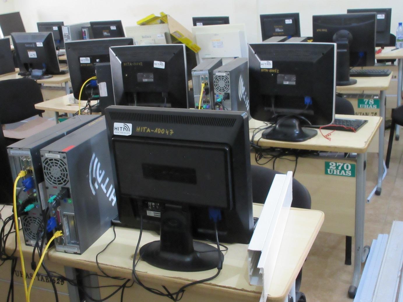 Am Tagesende steht das PC-Lab  schon fast