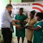 Übergabe der Krankenhausgüter an den CHPS Compound 3