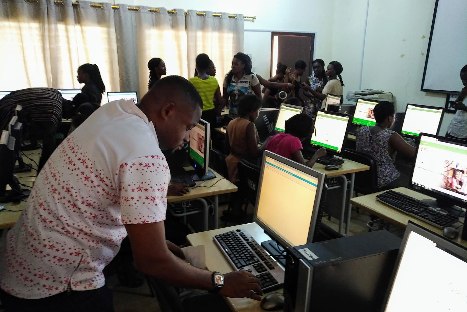 Preparing online test in HITA Computer Lab (Copy)